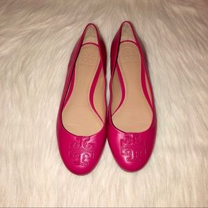 Tory Burch Lowell 2 Hot Pink Flats-Size-7M